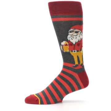 Image of Red Hipster Gnomes Men's Dress Socks (side-2-11)