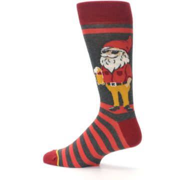 Image of Red Hipster Gnomes Men's Dress Socks (side-2-13)