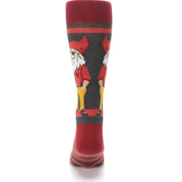 Image of Red Hipster Gnomes Men's Dress Socks (back-18)