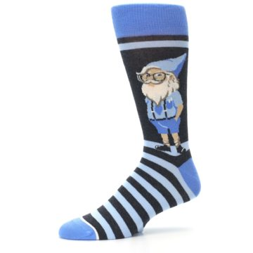 Image of Blue Nerdy Gnome Men's Dress Socks (side-2-10)