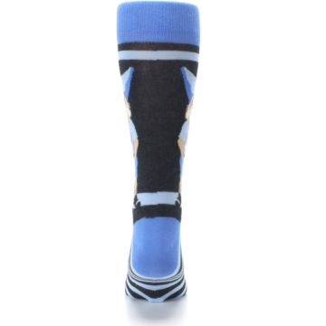 Image of Blue Nerdy Gnome Men's Dress Socks (back-18)