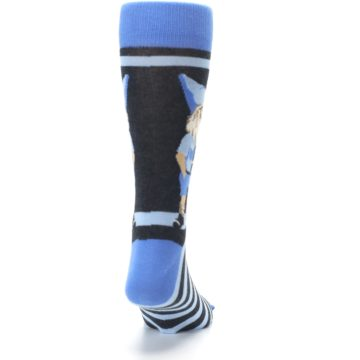 Image of Blue Nerdy Gnome Men's Dress Socks (back-19)