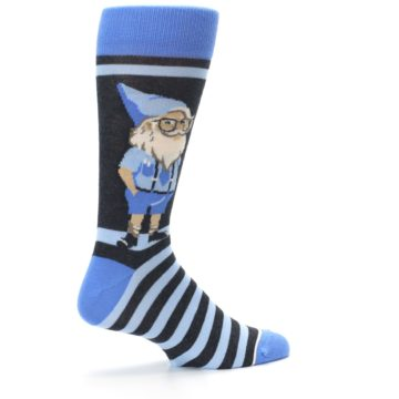 Image of Blue Nerdy Gnome Men's Dress Socks (side-1-23)