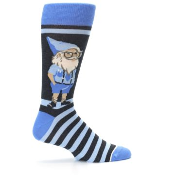 Image of Blue Nerdy Gnome Men's Dress Socks (side-1-24)