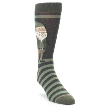 Image of Green Traditional Gnome Men's Dress Socks (side-1-front-02)
