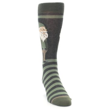 Image of Green Traditional Gnome Men's Dress Socks (side-1-front-03)