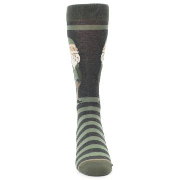 Image of Green Traditional Gnome Men's Dress Socks (front-04)