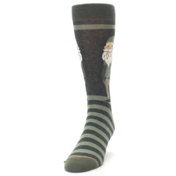 Image of Green Traditional Gnome Men's Dress Socks (side-2-front-06)