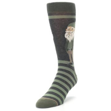 Image of Green Traditional Gnome Men's Dress Socks (side-2-front-07)