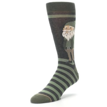 Image of Green Traditional Gnome Men's Dress Socks (side-2-front-08)