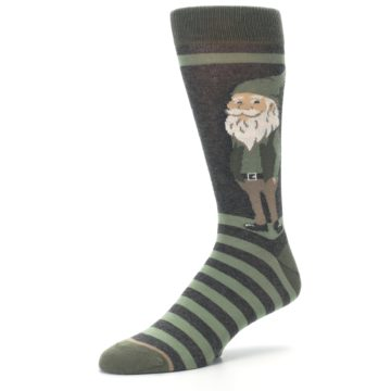 Image of Green Traditional Gnome Men's Dress Socks (side-2-09)