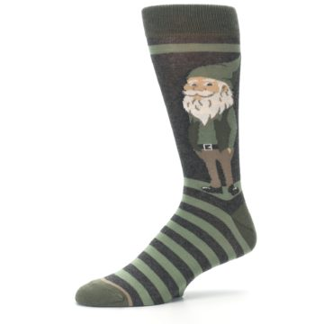 Image of Green Traditional Gnome Men's Dress Socks (side-2-10)