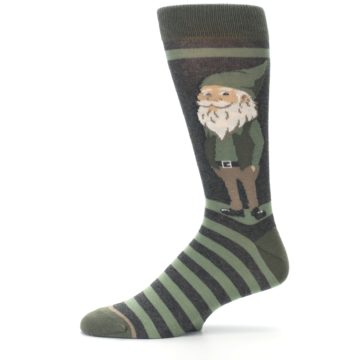 Image of Green Traditional Gnome Men's Dress Socks (side-2-11)