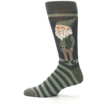Image of Green Traditional Gnome Men's Dress Socks (side-2-12)