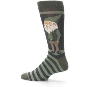Image of Green Traditional Gnome Men's Dress Socks (side-2-13)