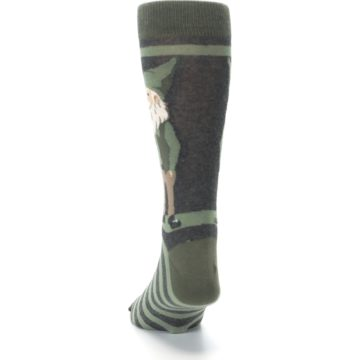 Image of Green Traditional Gnome Men's Dress Socks (back-17)