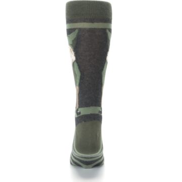 Image of Green Traditional Gnome Men's Dress Socks (back-18)