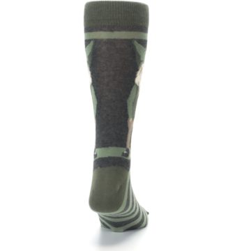 Image of Green Traditional Gnome Men's Dress Socks (back-19)