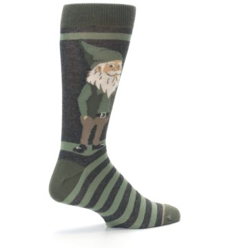 Image of Green Traditional Gnome Men's Dress Socks (side-1-23)