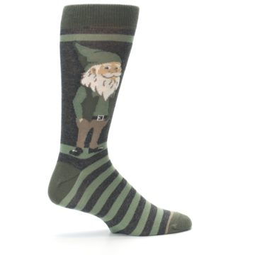 Image of Green Traditional Gnome Men's Dress Socks (side-1-24)