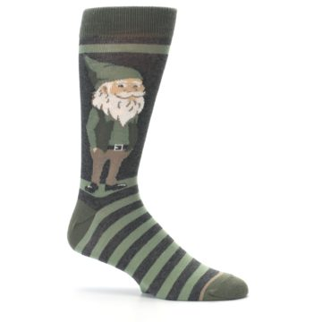 Image of Green Traditional Gnome Men's Dress Socks (side-1-25)