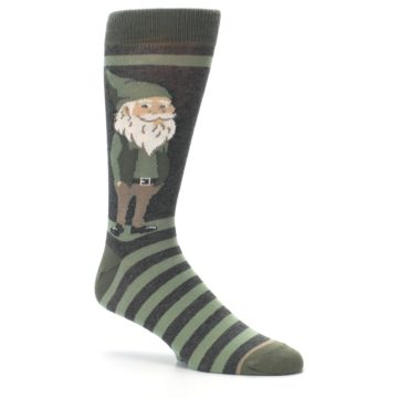Image of Green Traditional Gnome Men's Dress Socks (side-1-26)