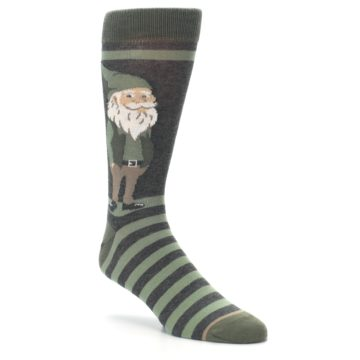Image of Green Traditional Gnome Men's Dress Socks (side-1-27)
