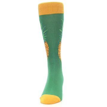 Image of Green Yellow Pineapple Men's Dress Socks (front-05)