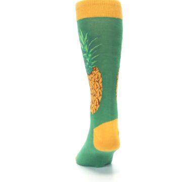 Image of Green Yellow Pineapple Men's Dress Socks (back-17)