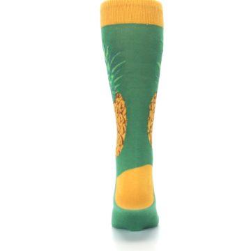 Image of Green Yellow Pineapple Men's Dress Socks (back-18)