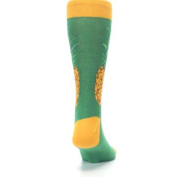 Image of Green Yellow Pineapple Men's Dress Socks (back-19)