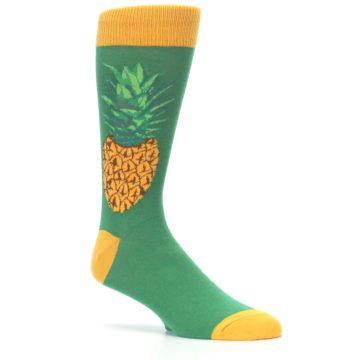 Image of Green Yellow Pineapple Men's Dress Socks (side-1-26)