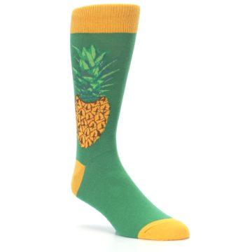 Image of Green Yellow Pineapple Men's Dress Socks (side-1-27)