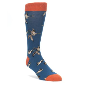 Blue-Mallard-Ducks-Flying-Mens-Dress-Socks-Socksmith