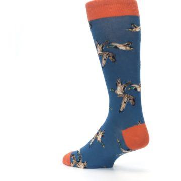 Image of Blue Mallard Ducks Flying Men's Dress Socks (side-2-back-14)
