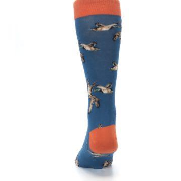 Image of Blue Mallard Ducks Flying Men's Dress Socks (back-17)