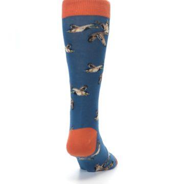 Image of Blue Mallard Ducks Flying Men's Dress Socks (back-19)