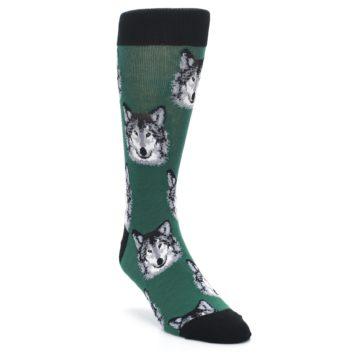 Green-Gray-Wolf-Mens-Dress-Socks-Socksmith