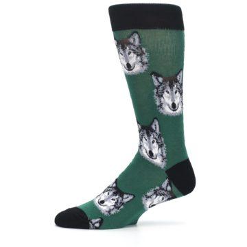Image of Green Gray Wolf Men's Dress Socks (side-2-11)