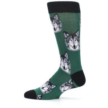 Image of Green Gray Wolf Men's Dress Socks (side-2-12)