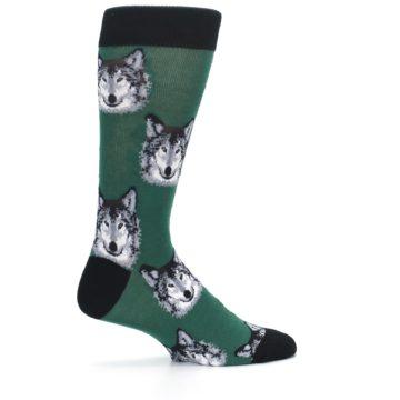 Image of Green Gray Wolf Men's Dress Socks (side-1-24)