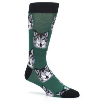 Image of Green Gray Wolf Men's Dress Socks (side-1-26)