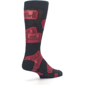 Image of Two Tickets to the Gun Show Men's Dress Socks (side-1-back-22)