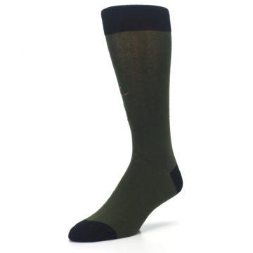 Image of Green Brown Jackalope Men's Dress Socks (side-2-front-08)