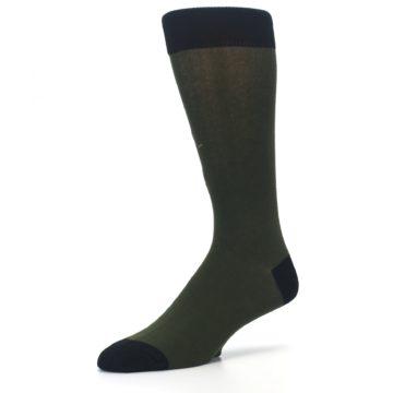 Image of Green Brown Jackalope Men's Dress Socks (side-2-09)