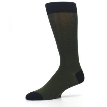Image of Green Brown Jackalope Men's Dress Socks (side-2-10)
