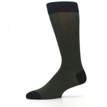 Image of Green Brown Jackalope Men's Dress Socks (side-2-11)