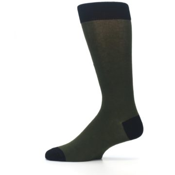 Image of Green Brown Jackalope Men's Dress Socks (side-2-12)