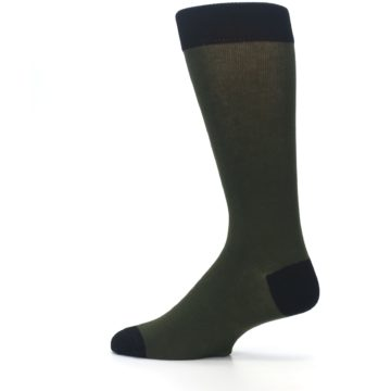 Image of Green Brown Jackalope Men's Dress Socks (side-2-13)