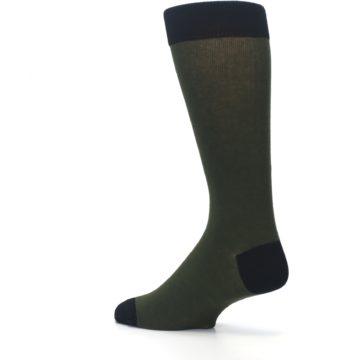 Image of Green Brown Jackalope Men's Dress Socks (side-2-back-14)